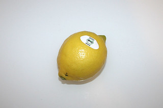 17 - Zutat Bio-Zitrone / Ingredient lemon
