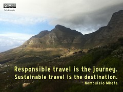 Responsible travel is the journey. Sustainable travel is the destination. - Nombulelo Mkefa ht @ThisTourismWeek