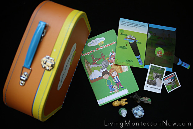 Contents of Little Passports Early Explorers Landmarks Package Plus Suitcase from Package 1