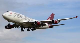 Virgin Atlantic Airways Boeing 747-41R G-VROC Approach