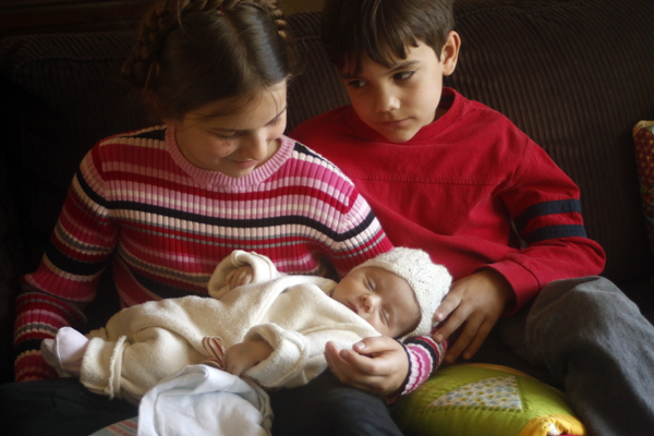 Eleni with her siblings
