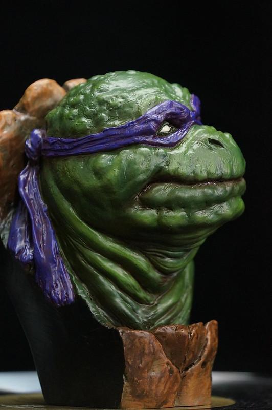 1/4 TMNT sculpté par Cyril Roquelaine 17128517169_080154358c_c