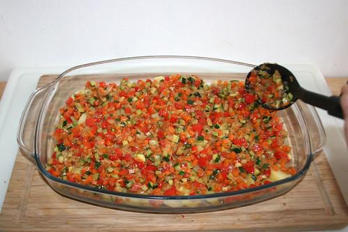 46 - Gemüse über Kartoffeln geben / Add vegetables
