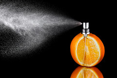 Parfumé à l' orange