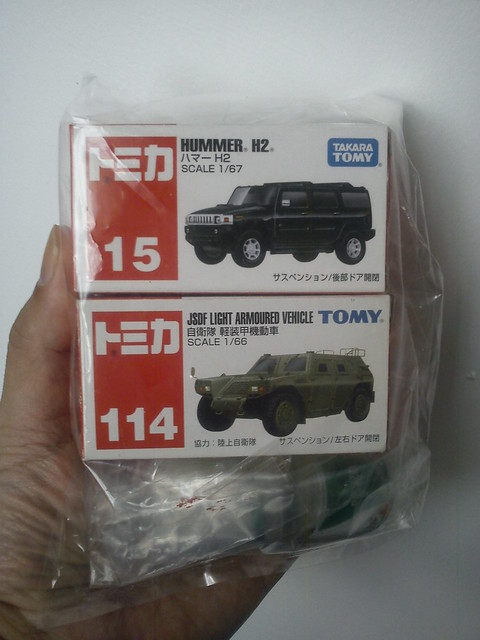 [Tomica] #015 Hummer H2 X #114 JSDF Light Armoured Vehicle