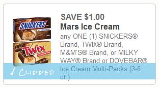 Mars Ice Cream Treats Coupon