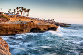 Waiting for the Green Flash: Sunset Cliffs, San Diego, CA