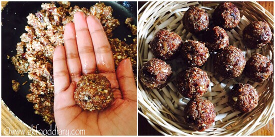 Dates Almond Balls Recipe for Babies, Toddlers and Kids - step 4