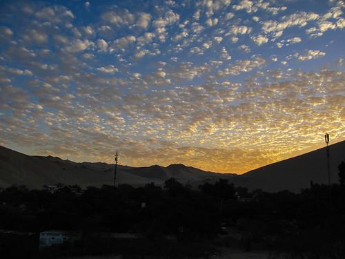 Huacachina: coucher de soleil
