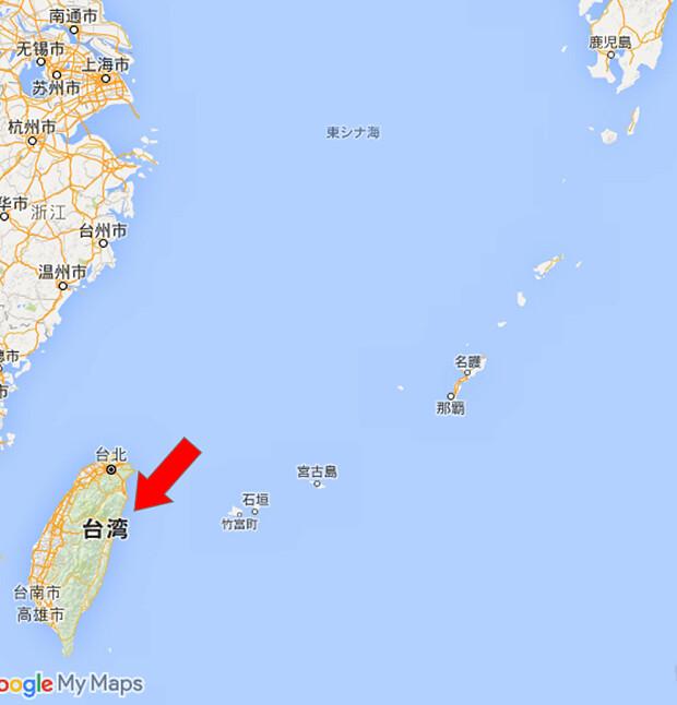 160710 台湾の位置