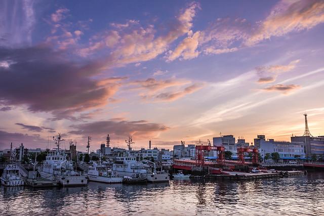 Sunset in Imabari Port