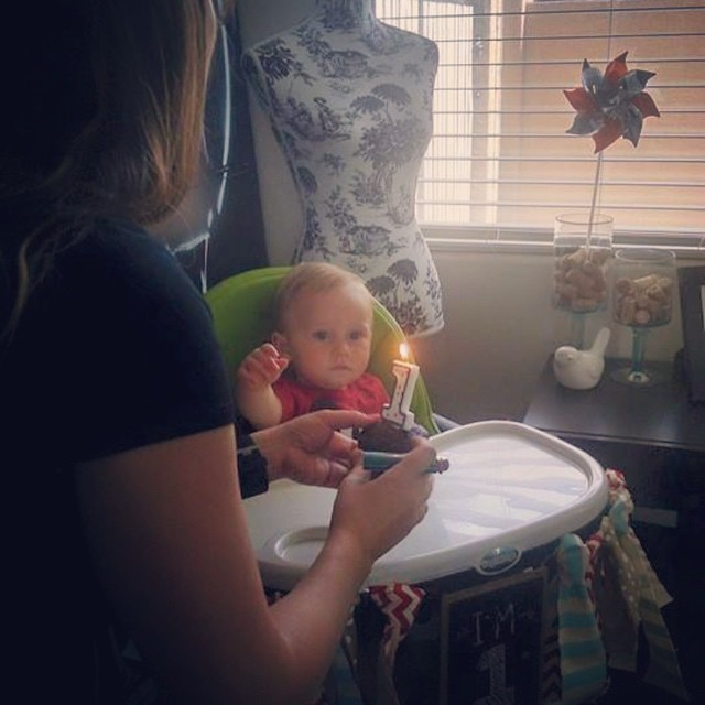 🎶happy birthday to you...🎶 Archer getting his cupcake. Thanks Dallon for the great pic! by bartlewife