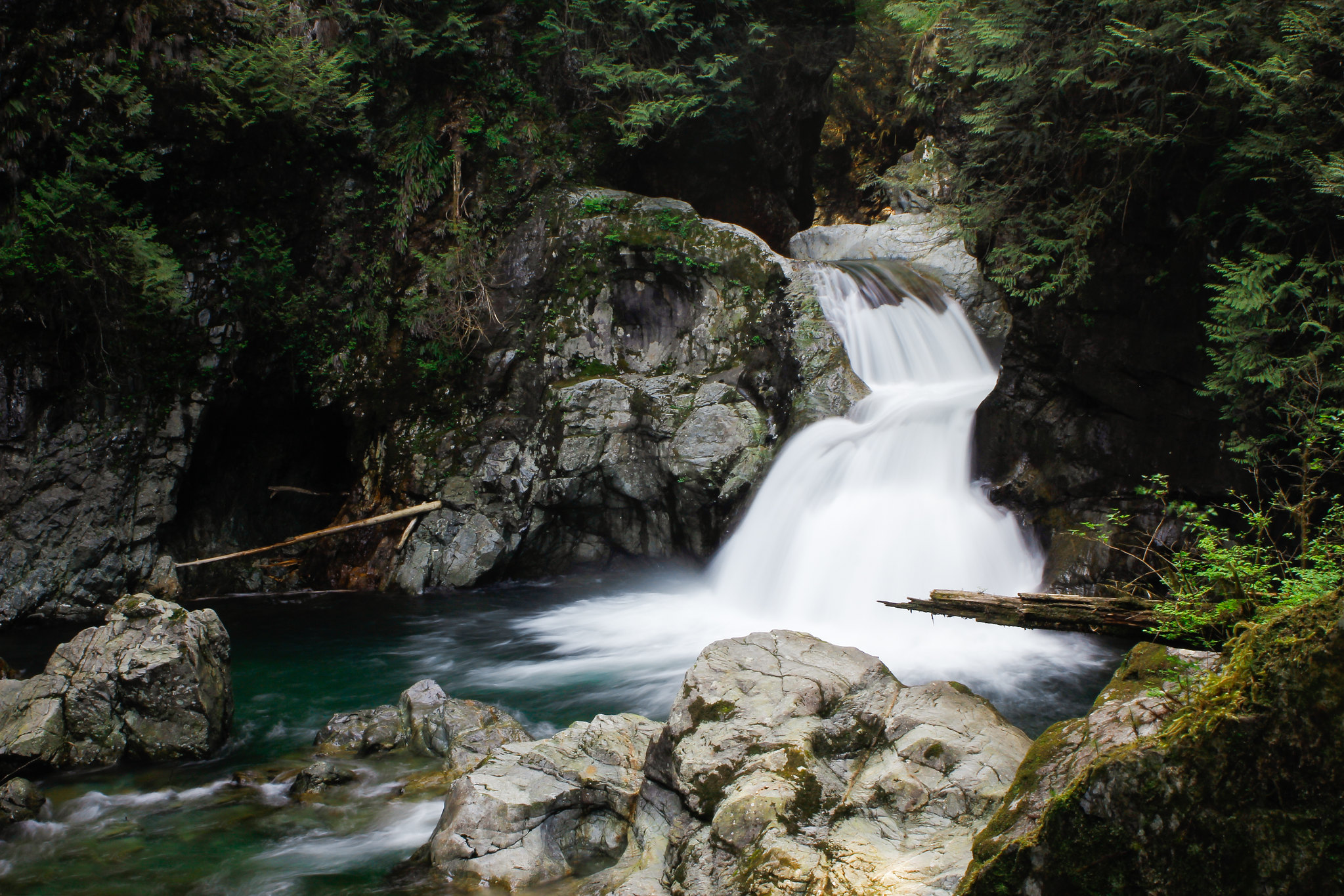 Twin Falls at Lynn Canyon