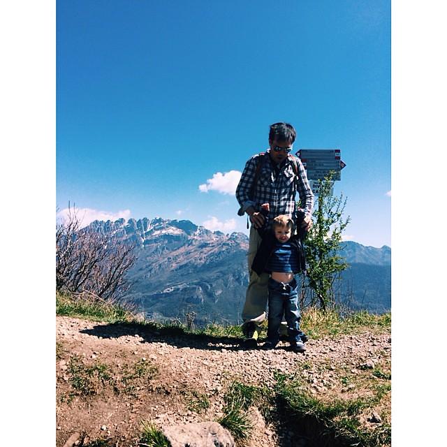 On the (wow that's steep) ridge #montebarro #mountains #travelwithkids #igersitalia #italy