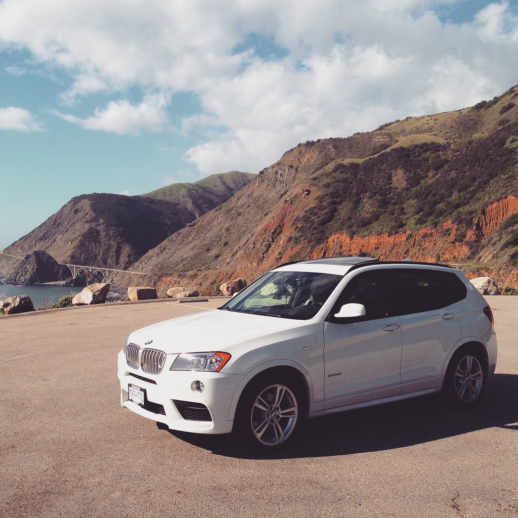 BMW X3 at the Pacific Coast