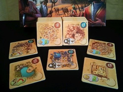 014 Five Tribes Game Tiles