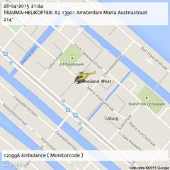 TRAUMA-HELIKOPTER: A2 13901 Amsterdam Maria Austriastraat 214~ (21:24)