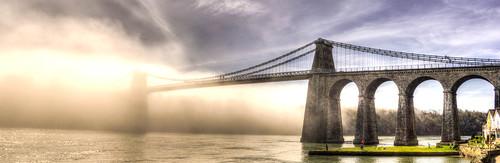 Foggy Menai Strait - North Wales, UK - HDR