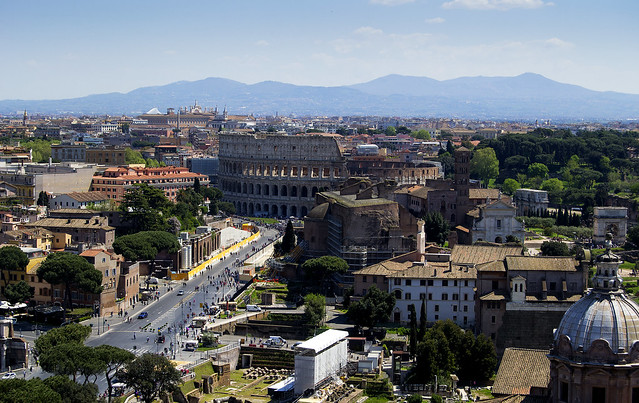 Rome - Colosseum - Basilica of Maxentius - Boog van Titus - Boog van Constantijn 1
