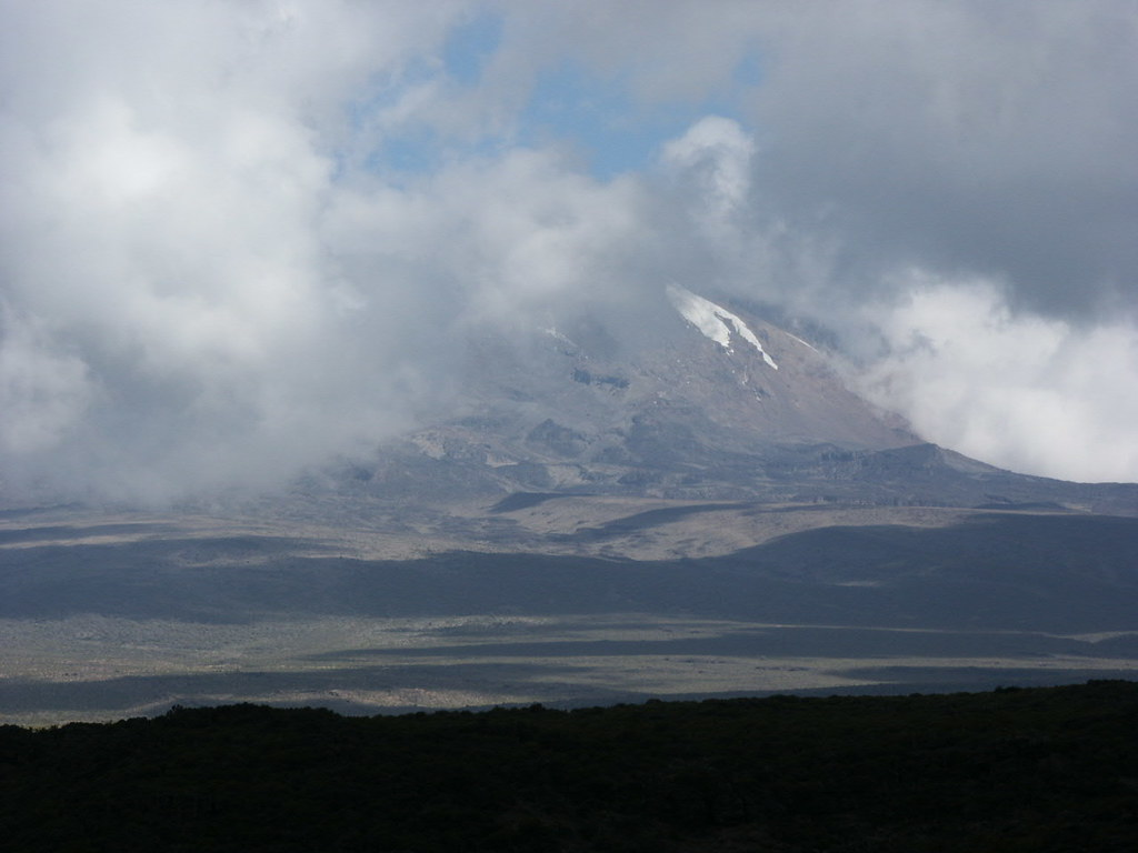 Kibo from the start of the Shira Plateau