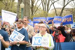 AFGE Participates in #StopFastTrack Rallies