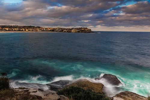 ocean longexposure seascape beach bondi canon geotagged photography flickr waves sydney australia nsw bondibeach australianbeaches canon5dmarkiii markbimagery canonef24105mmlense