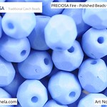 PRECIOSA Fire-Polished Beads - 151 19 001 - 02010/29568 - Periwinkle