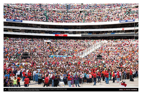 Soon, the renowned stadium begins filling up with excited attendees, knowing that the visit of Prophet T.B. Joshua will have a huge impact not only on them personally but on the entire nation of Mexico.