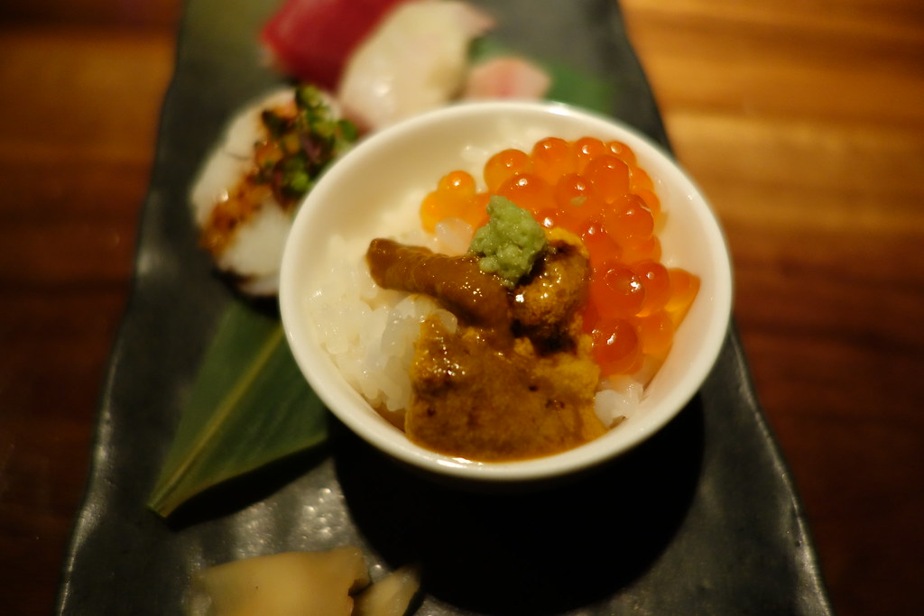 Jukai NYC Tasting Menu - uni and ikura