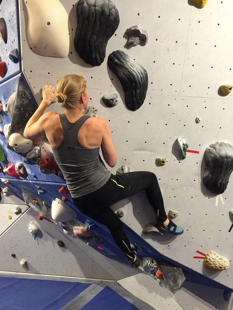 Bouldering och topprep