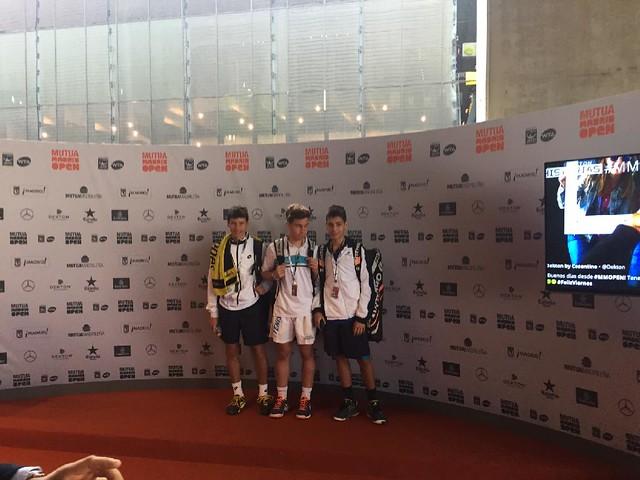 Jugadores gallegos en la fase final del Mutua Madrid Open Sub 16