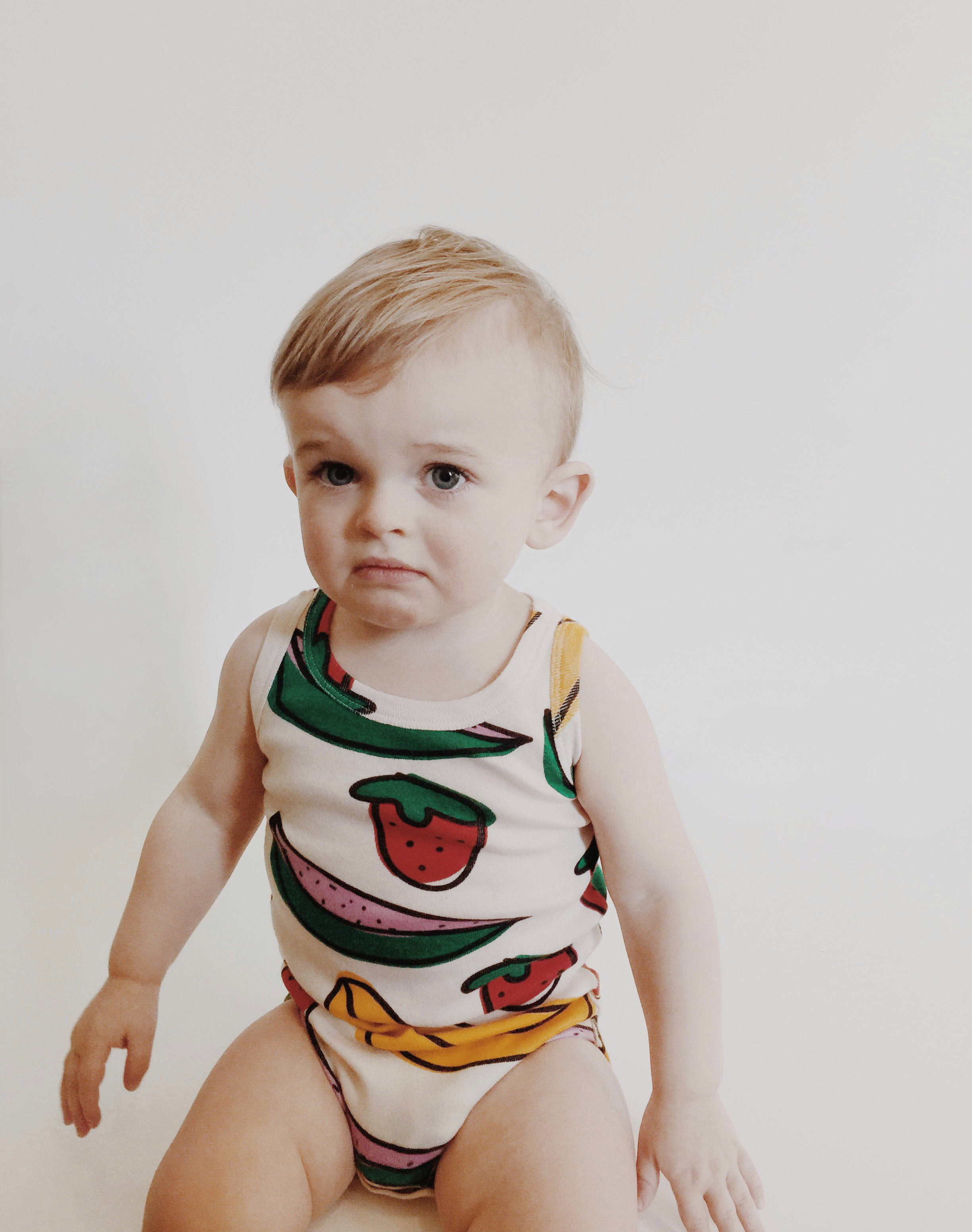 Hugo Loves Tiki SS16 Fruit Sleeveless Bodysuit Ro