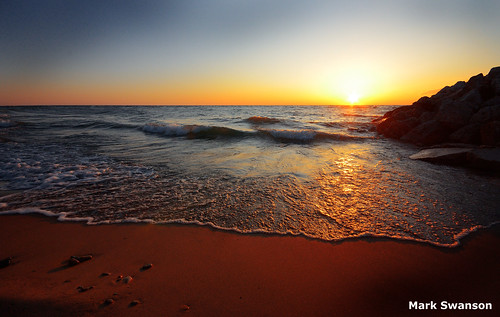 sunset sky lake seascape beach nature nikon rocks waves michigan great lakes scenic sigma 1020mm d5100