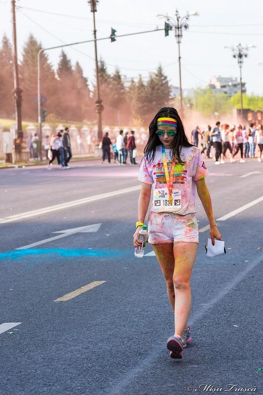 după alergare