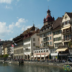 Lucerne's Old Town on the River Reuss - Switzerland