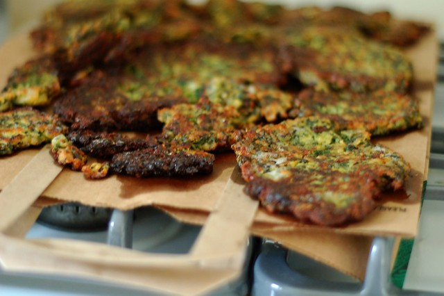 Curried kale cakes by Eve Fox, the Garden of Eating, copyright 2015