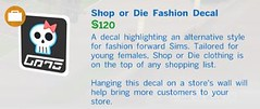 Shop or Die Fashion Decal