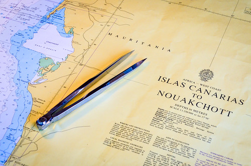 Nautical chart: Nouakchott & Islas Canarias