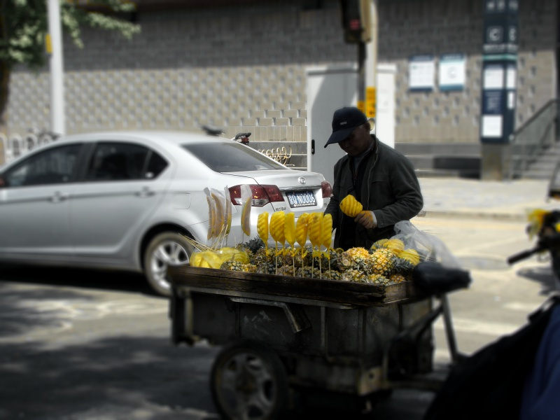 Beijing pineapple cart