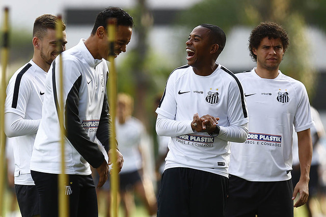 Lucas Lima, Ricardo Oliveira, Robinho e Victor Ferraz
