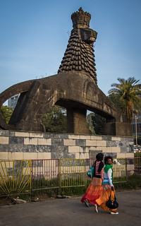 Image of The Lion of Judah of Haile Selassie I near Addis Ababa. sculpture ethiopia addisababa lionofjudah oromia mauricecalka
