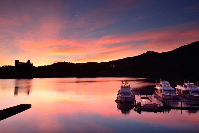 火紅明潭 Burning sky, Sun Moon Lake