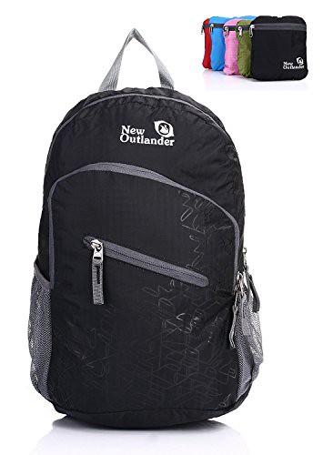 Outlander Packable Handy Lightweight Travel Backpack Daypack-Black-L