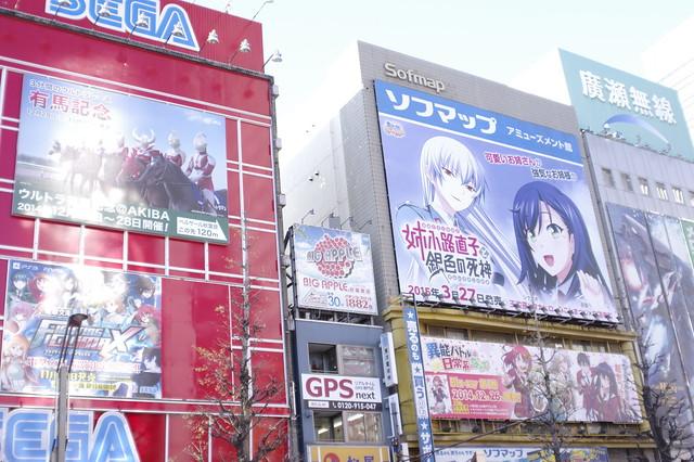 ソフマップ 秋葉原 アミューズメント館 壁面広告 姉小路直子と銀色の死神