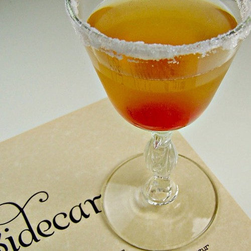 Sidecar.  You owe it to yourself to try this one. Sophistication in a glass. Freshly squeezed Meyer lemons from @melissasproduce make this extra delicious. #recipe #ollapodrida #blog #sidecar #cocktail #beverage #brandy