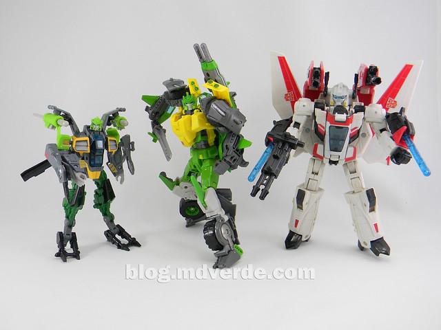 Transformers Springer Voyager - Generations - modo robot vs Jetfire vs Springer Deluxe