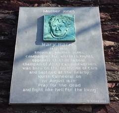 Photo of Mary Harris Jones bronze plaque