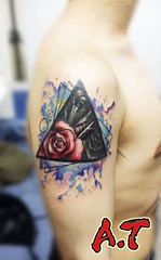 rose inside the triangle