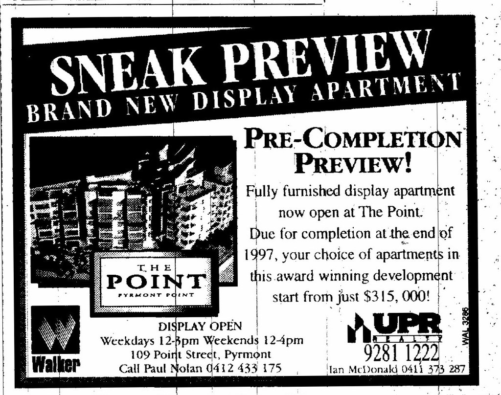 The Point Pyrmont Ad July 5 1997 SMH 14RE