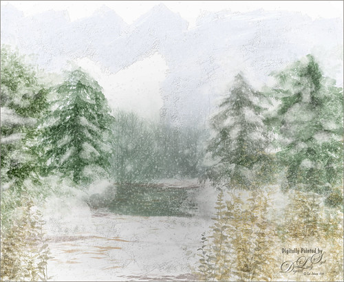 Image of a Wintry Scene that I painted